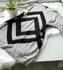 Hosszított kötött pulcsi L