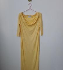 Új Impress vanília vállra húzhatós maxi ruha S/M