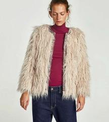 Zara szőrmés kabát M