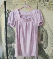 H&M világos rózsaszín tunika 34/xs