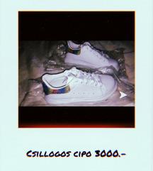 Csillogós cipő