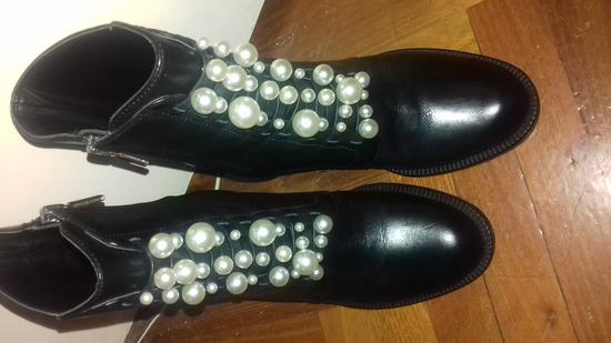 Zara új 36-os bőr gyöngyös bokacsizma