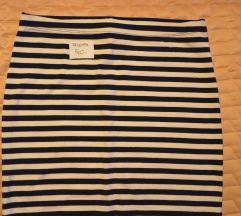 XS-es H&M Basic kék-fehér csíkos miniszoknya