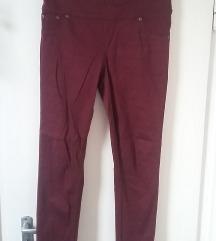Bordó magasított derekú nadrág, XS/S-es