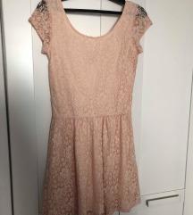 Pimkie rózsaszín csipkés ruha S-M méret