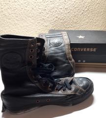 LEÁRAZVA! Converse bőr, fekete magasszárú cipő