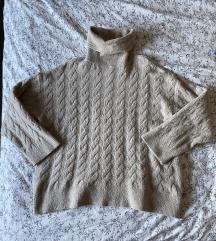 H&M kötött garbó pulóver