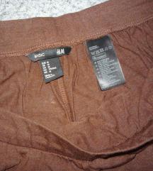 H&M barna maxiszoknya postával