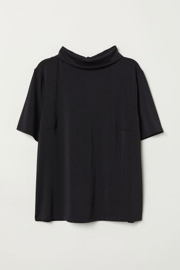 H&M black blouse with the gold details