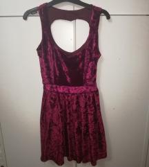 Bársony pink ruha