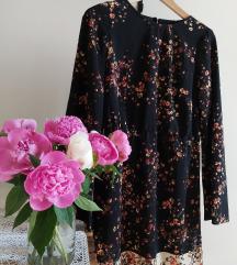 Festményes tavaszi virágoskert ruha