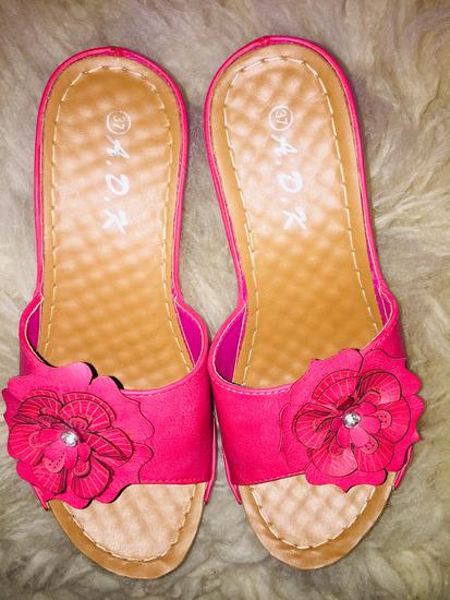 Pink egybetalpu papucs