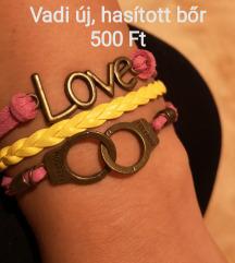 Love & Freedom bőr karkötő ÚJ