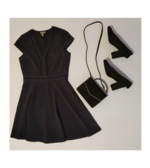 H&M sötétkék ruha