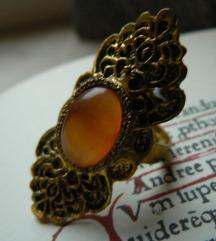 Vintage borostyános gyűrű