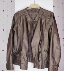 C&A bronz színű bőr dzseki