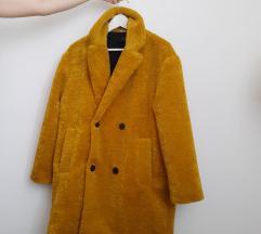 Mustár teddybear kabát