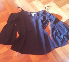 H&M harang ujjú fekete felső 34