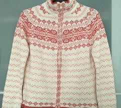 Norvégmintás kötött pulóver