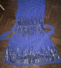 kék nyári alkalmi ruha