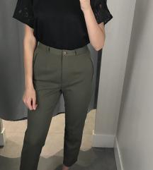 Olajzöld elegáns nadrág