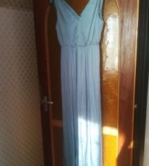 Szürkés kék hosszú ruha