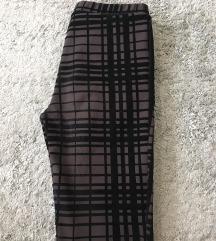 sötétbarna cipzáros bársony nadrág