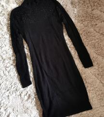 Orsay fekete kötött bodycon ruha XXS XS