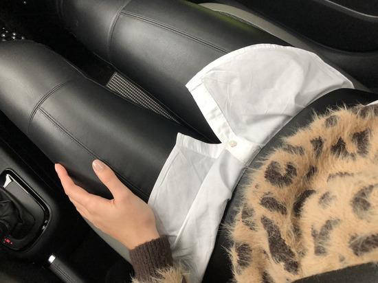 Új ZARA műbőr fekete nadrág