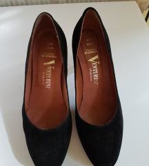 Fekete valódi bőr olasz cipő