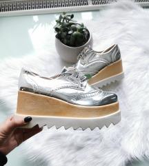 Ezüst platform cipő 39 Új 🖤