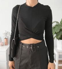 H&M fekete croptop