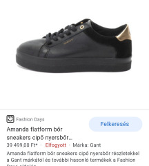 Gant black leather sneakers/40