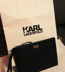 KARL LAGERFELD eredeti bőr clutch