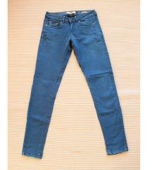BERSHKA kék skinny farmernadrág 36-38