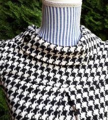 Fekete-fehér tweed ruha