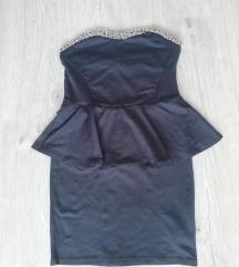 Zara pepulum fekete ruha Xs