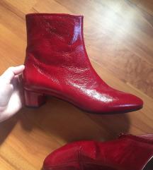Valódi bőr piros színű Zara 36-os bokacsizma