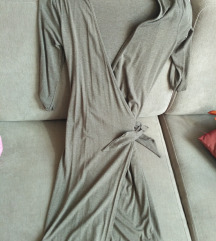 Designer,átlapolós ruha taupe