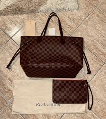 Eredeti bőr Louis Vuitton Neverfull táska