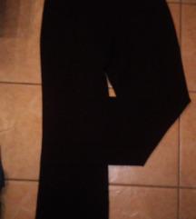 Bőszárú fekete szövetnadrág_M