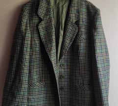 vintage tartan kabátka