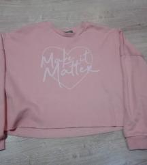 Primark pasztel rózsaszín crop pulcsi