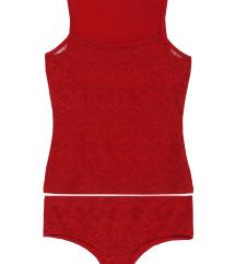 Tezenis piros trikó bugyi szett új M/L