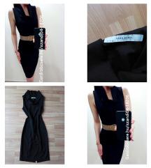 Zara fekete midi ruha
