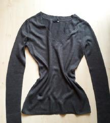 H&M, sötétszürke pulóver, S/M