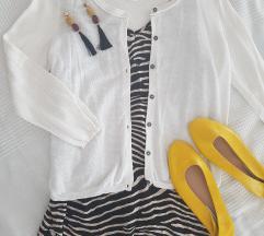 H&M Basic fehér kötött kardigán