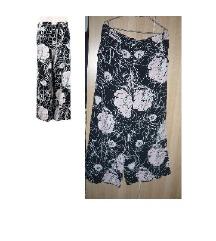 Marks and Spencer fekete virágos bő nadrág 42