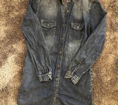 Hosszított farmer ing