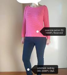 Reserved rózsaszín oversize pulóver